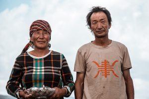 Retrato Pareja Mongolia Nomadas